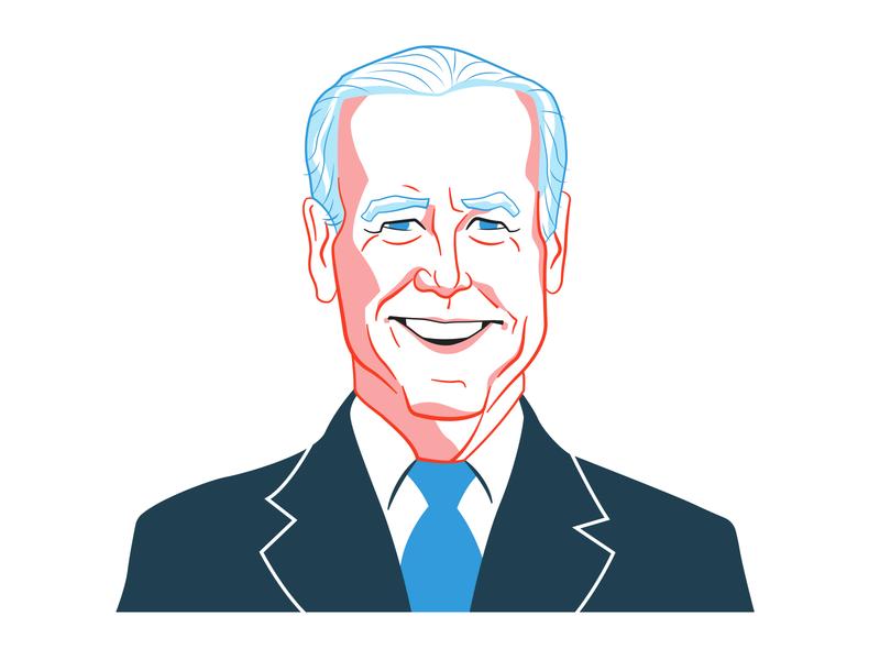 Joe Biden for NPR politician usa america joe biden political portrait election npr branding design illustration