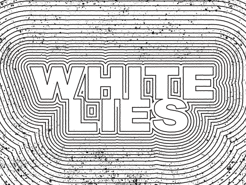 White Lies Branding for NPR identity podcast typography npr logo design branding