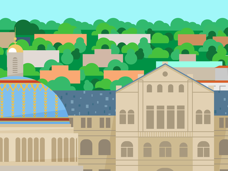 Catholic University Illustration landscape catholic university washington dc university college design illustration