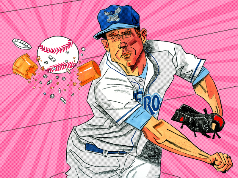Carter Hope for The Athletic illustrator conceptual athletic sports mlb pitcher athlete baseball editorial illustration illustraion