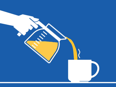 Pouring Coffee liquid drink coffee motion design motion animation illustration branding design