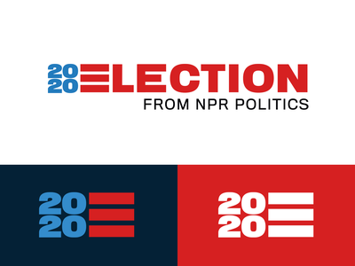 2020 Election for NPR government president election political politics united states typography identity logo america npr branding design