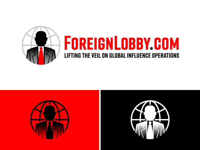 Foreign Lobby Report lobbyist investigation reporting government politics editorial news logo identity illustration branding design