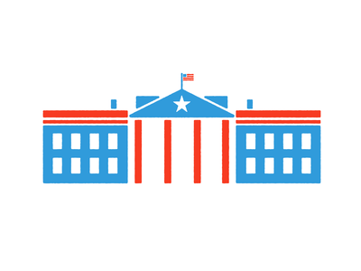 The White House washington dc democracy democrat republican white house united states usa president vector government political election america npr illustration