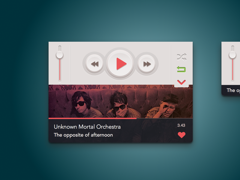 Mini music player [.sketchapp] music player mini play sketch sketchapp free freebie