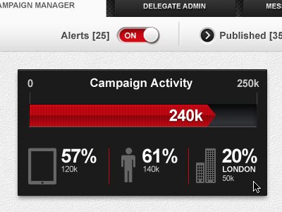 Campaign Activity stats