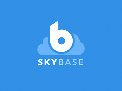 Skybase logo [.sketch] logo branding blue sky base app sketch sketchapp
