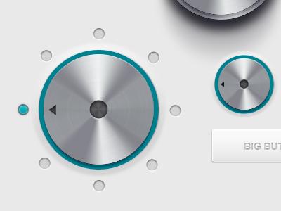 User interface freebie  knobs dials chrome ui user interface sliders switches buttons freebie free