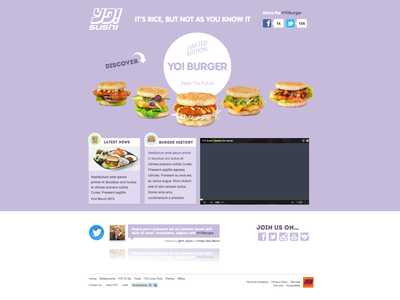 YO! Burger Microsite yo burger sushi responsive mobile microsite