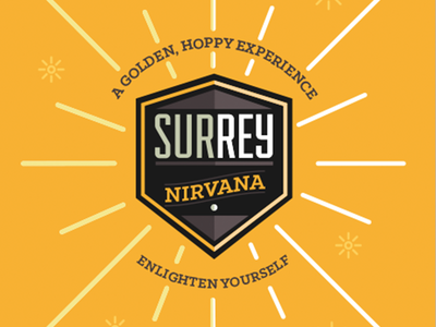 Surrey Nirvana  sun burst hop hoppy ale craft beer nirvana surrey