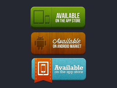 App store buttons retro android iphone ipod material wooden