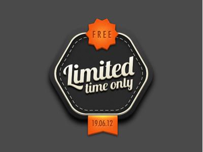 Retro Badge #2 retro rubber ribbon black orange free limited edition