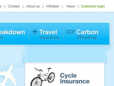 Insurance company menu