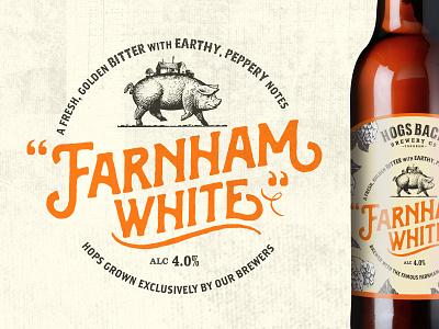 Farnham White Bine farnham white farnham branding beer brewery