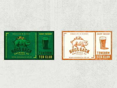 Brewery Members Club Badge hogs back surrey pint members club beer brewery