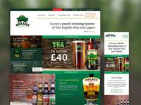 Hogs Back Brewery Website