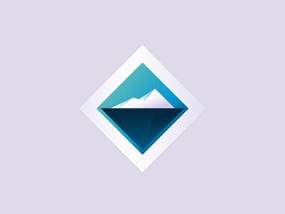 Iceberg logomark logo iceberg