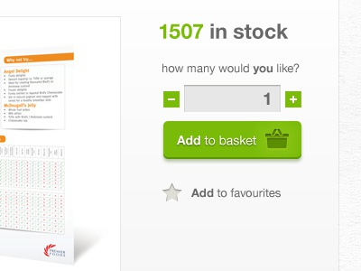 Online Print Ordering add to basket quantity ordering green stocklist favourites