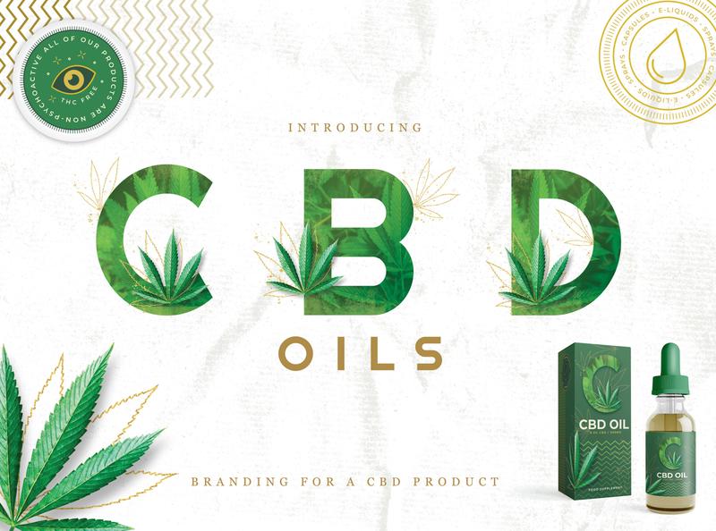 CBD Oil Branding Kit branding kit branding vape hemp cbd logo cbd oil cbd