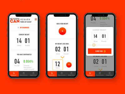 Weight loss tracker tracker app casestudy ux tracker weightloss ui mobile app