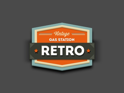 Retro Gas Station Badge retro vintage badge sticker
