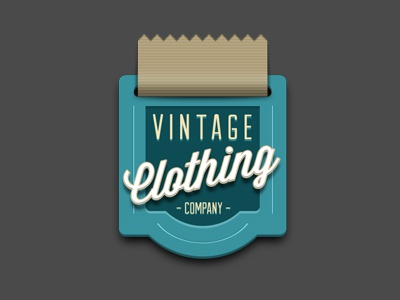 Vintage Clothing Company retro vintage badge sticker clothing company