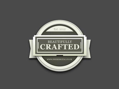 Beautifully Crafted Badge retro vintage badge sticker stone whitehouse