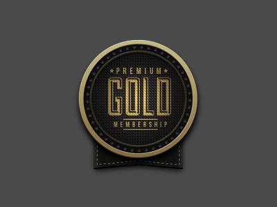 Premium Gold retro vintage badge sticker premium gold