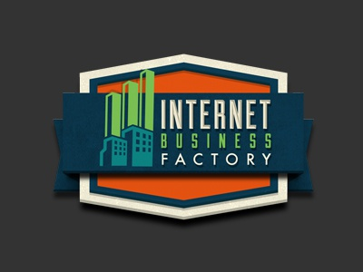 IBF Final Rendered logo internet business factory retro logo