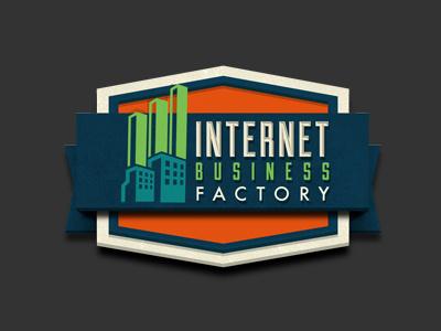 IBF Final Rendered logo internet business factory retro logo