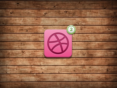 2 Dribbble invites to give away dribbble app icon notification sketch pink green