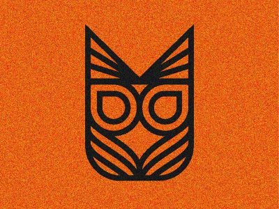 Just Owling around logo design thick lines vector design grain texture logmark logo owl owl logo