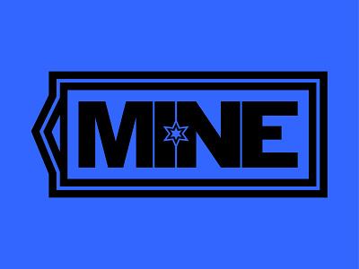Mine design vector vector design thick font star type design colors flat design logo hang tags