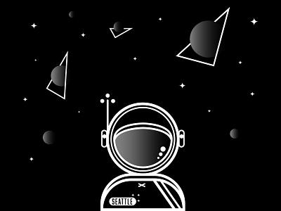 Chase those dreams kid. shapes vectors design spacewoman gradients dreams planets stars space astronaut
