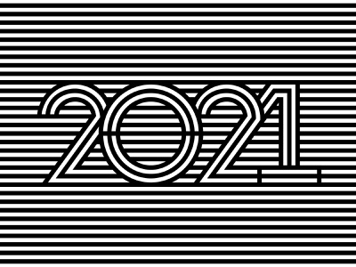 2021 number design line art stripes 2021 trend 2021 design happy new year 2021 typography new year numbers happy new year 2021