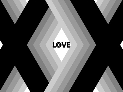 X Love angles illustrator vectors geometric design shades love typography design typography type