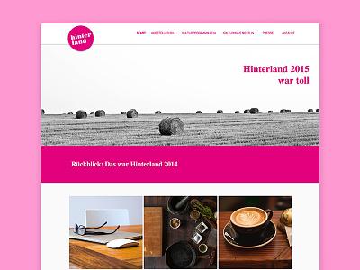 Hinterland backend frontend wordpress art festival berlin hinterland germany website development website design