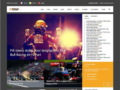 F1Today.net user experience ux gui ui interface user interface ui design website design racing f1 formula 1