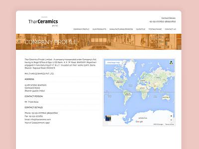 Tharceramics web design website design sketch theinterfacedesign.com interface design ui design