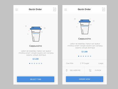 Coffee Order aatur.in starbucks brista costa cafe coffee day cappuccino ux ui app order online coffee