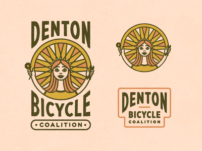 DBC - Reject 2 system line work illustration typography texture vintage 70s identity bicycle logo