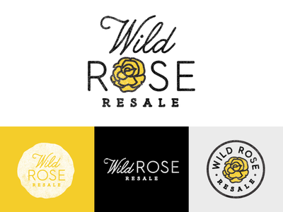 Wild Rose - Reject clothes resale vintage illustration texture typography branding