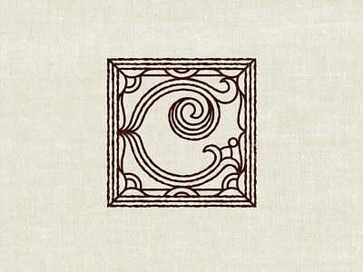 Book Monogram texture linework detail packaging illuminated manuscript lettering monogram