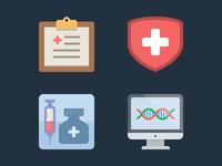 Health flat icons 2