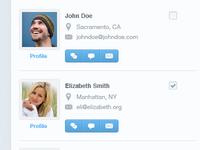 Friends screen WIP UI