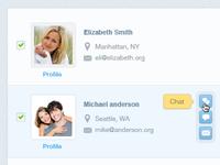 Friends screen UI rebound