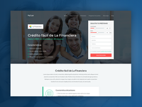 Financial company landing page
