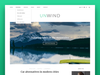 Unwind WordPress Theme