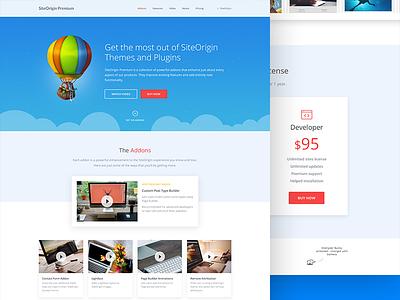 Featured addons landing page widget page builder premium features plugin video siteorigin theme wordpress addon landing page landing
