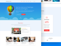 Featured addons landing page